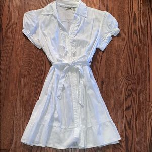 Dresses & Skirts - White button down sundress